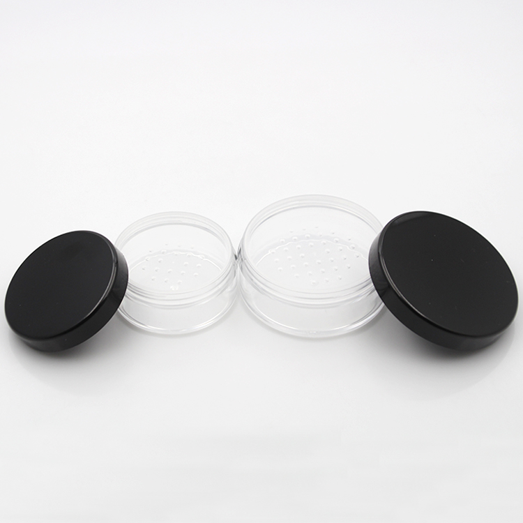 Купить с кэшбэком 12 xRefillable Empty Powder Pot With Sieve Cosmetic Makeup Jar Container Handheld Portable Sifter with Black Cap 10g 20g 30g 50g
