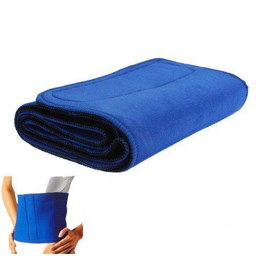 Mounchain Waist Trimmer Exercise Belt Slimming Burn Fat Sauna Sweat Weight Loss Wide Blue