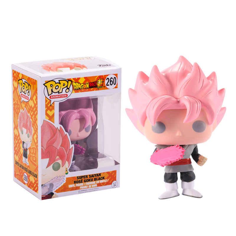 Funko POP Figura de Ação Dragon Ball Z SUPER SAIYAN GOKU POSE ROSA Boneca Ação Collectible Modelo brinquedos para chlidren aniversário presente