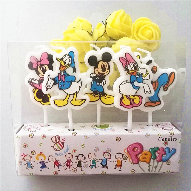 5pcslot Donald Duck Kids Birthday Party Supplies Candles Party