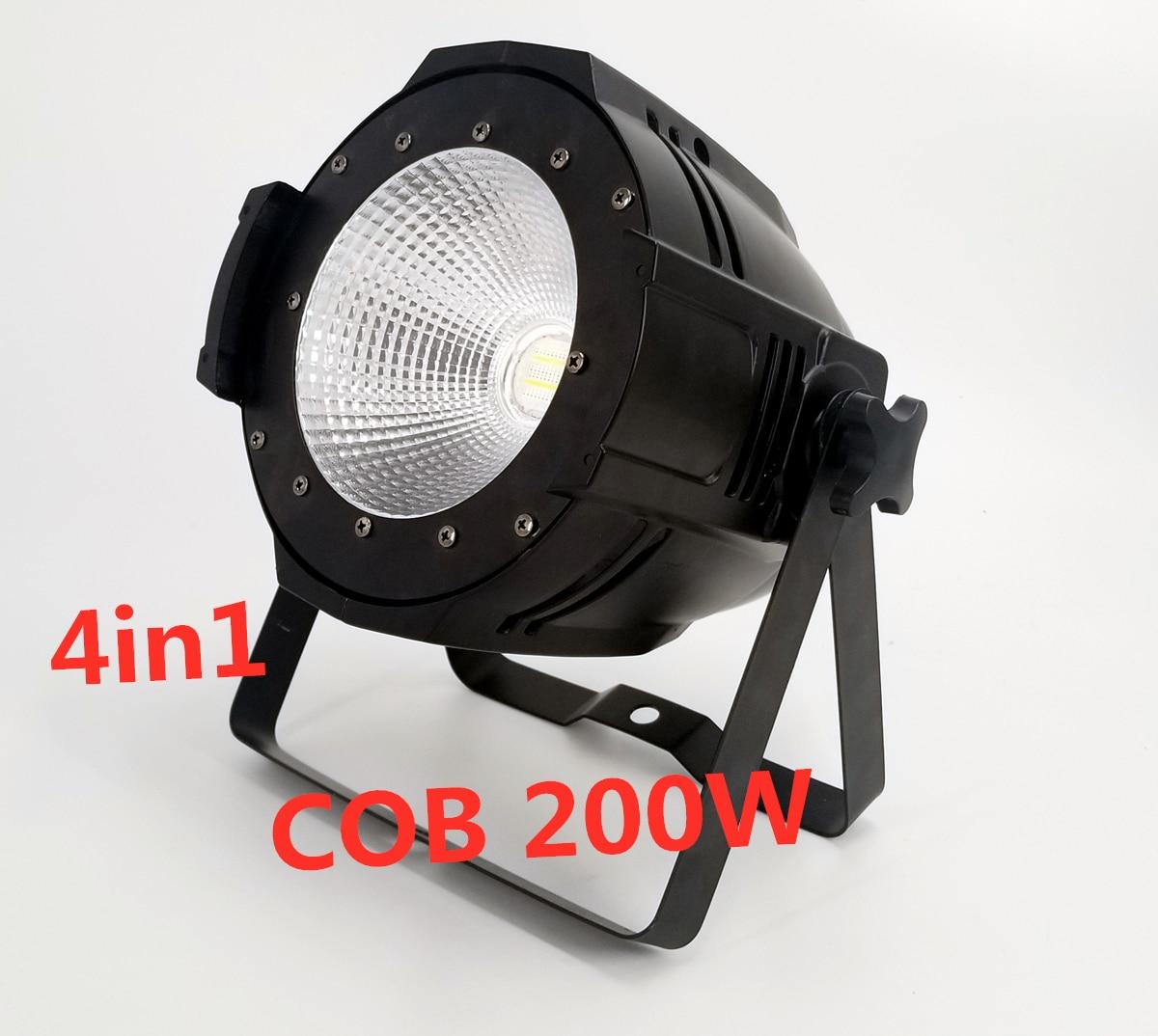 200W COB Led Par Light RGBW 4in1 dj light LED DMX disco Stage lighting effects