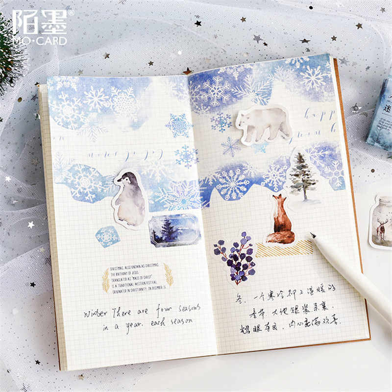 45Pcs/set kawaii Stationery sticker cute Forest elk pattern diary office calendar stationery christmas stickers gift label