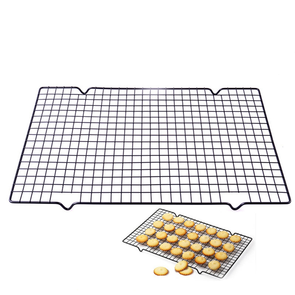 25x40cm Nonstick Cooling Rack Mesh Grid Baking Cookie Biscuit Cake Drying Stand Wire Pan Home Kitchen Baking Rack Bakeware