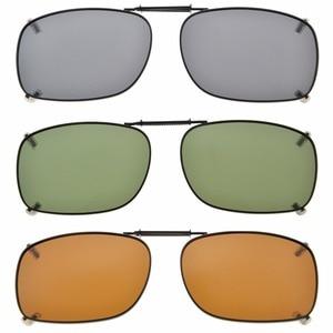 Image 1 - C75 Eyekepper Grey/Brown/G15 Lens 3 pack Clip on Polarized Sunglasses 51x36MM