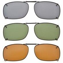 C75 Eyekepper Gri/Kahverengi/G15 Lens 3 pack klipsli Polarize Güneş Gözlüğü 51x36 MM