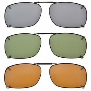 Image 1 - C75 eye kepper gris/marron/G15 lentille 3 pack lunettes de soleil polarisées à clipser 51x36 MM