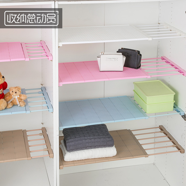 Creative Stretchable Closet Shelves Clothes Rack Multifunctinonal Cabinet  Kitchen Organizer And Storage Rack