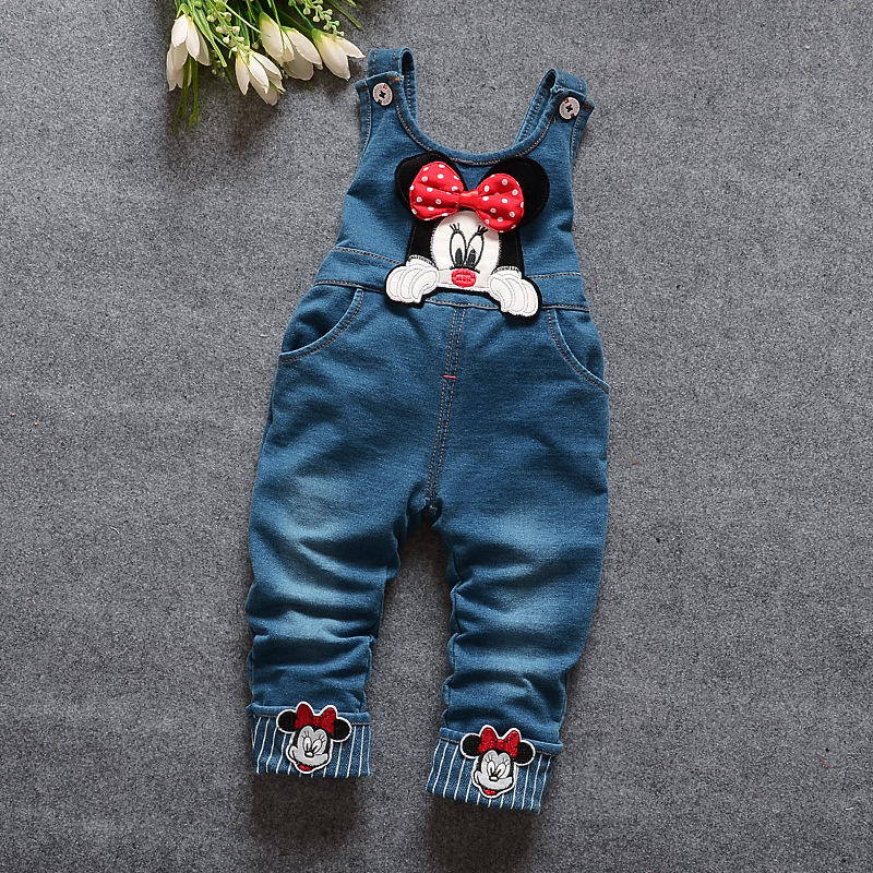 Image 5 - 2020 New Hot Spring Baby Girls Clothing Set Children Denim overalls jeans pants + Blouse Full Sleeve Twinset Kids Clothes Setpants spandexpants femalepants nylon -