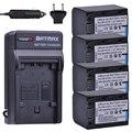 Batmax 4 шт. NP-FH70 NP FH70 NPFH70 батарея + настенное зарядное устройство для sony NP-FH30 NP-FH100 NP-FH50  HDR-CX12E  HDR-CX7E  HDR-SR10E  HDR-SR12E