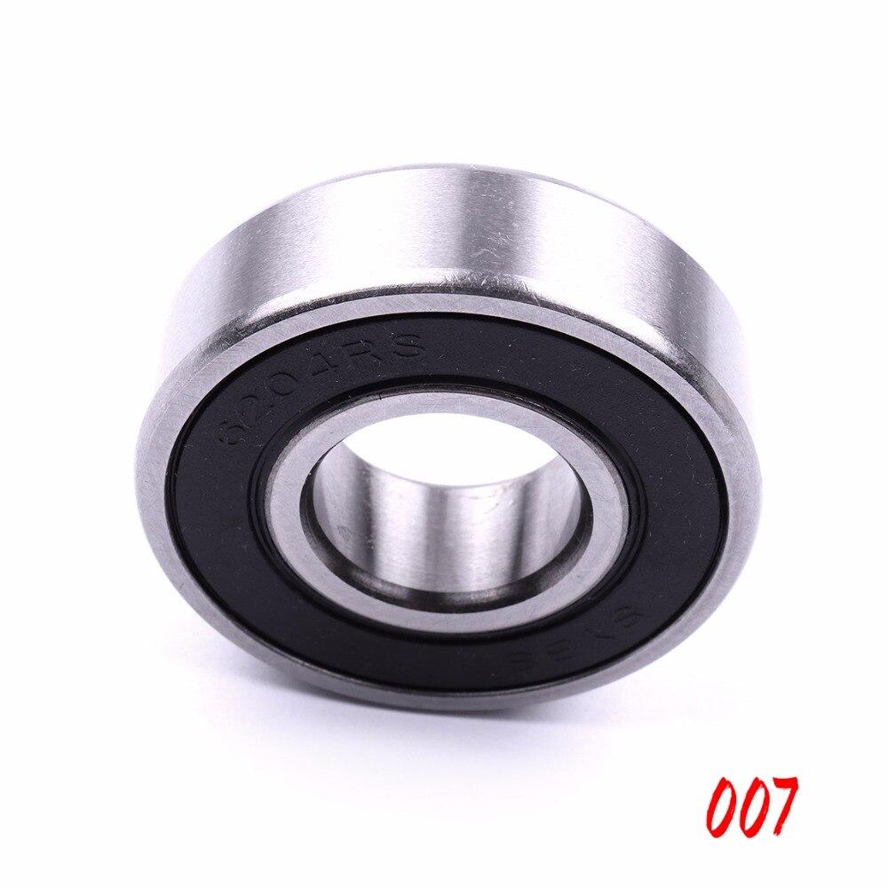 все цены на 10PCS Mini SYBS Bearing 6203-2RS,6204-2RS 17mm,20mm Low Speed Ball Bearings For Model Toys Furniture Accessories онлайн