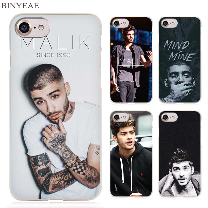 BINYEAE Zayn Malik Clear Cell Phone Case Cover for Apple iPhone 4 4s 5 5s SE 5c 6 6s 7 7 ...