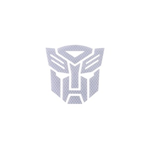 Image 5 - 3d Reflective  Warning Car Sticker Transformers For Car Auto logo Window Tail Car Body Decoration Car Styling