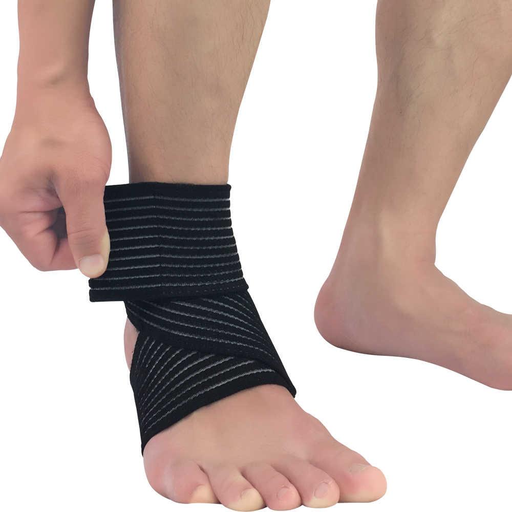 1 ADET Spor sargı bandaj Ayak Bileği Strain Elastik ayak bileği desteği Guard Koruyucu Koşu sıkıştırma sapanlar Spor Ayak Sarar 2018