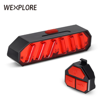 Wireless control bike tail light usb rechargeable bicycle led 100 lumens bright lantern for rear
