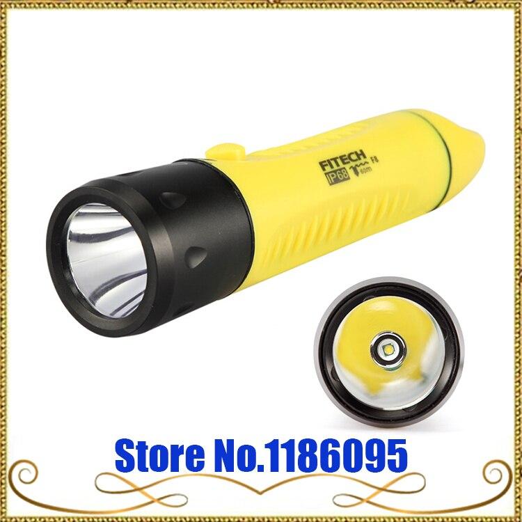 Nouveau véritable POP Lite FITECH F8 chargement professionnel plongée longue LED 1000 Lumens CREE XML T6 lampe de poche LED
