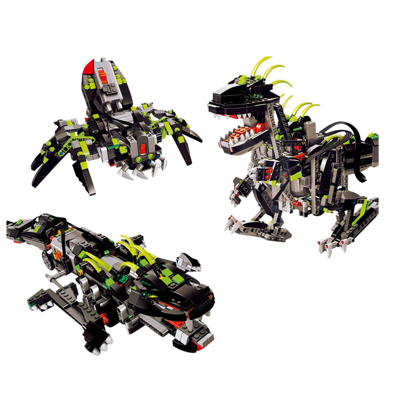Compatible Legoe Technic model 24010 792pcs 3 in 1 Dinosaur RC Sound Function building blocks 4958 Bricks toys for children decool 3117 city creator 3 in 1 vacation getaways model building blocks enlighten diy figure toys for children compatible legoe