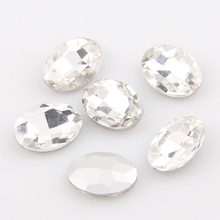 High Quality Oval Pointed back Crystal Clear Pointback Fancy Stone Glass Rhinestone Stones For DIY Wedding Dress Jewelry Making(China)