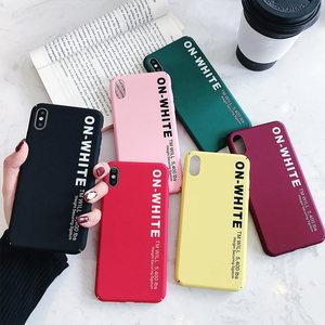Image 5 - KISSCASE Letter Phone Case For Xiaomi Redmi Note 7 6 5 Pro Pocophone F1 Mi8 Mi A2 Lite 6X 5X A1 Mi9 SE Hard PC Back Cover