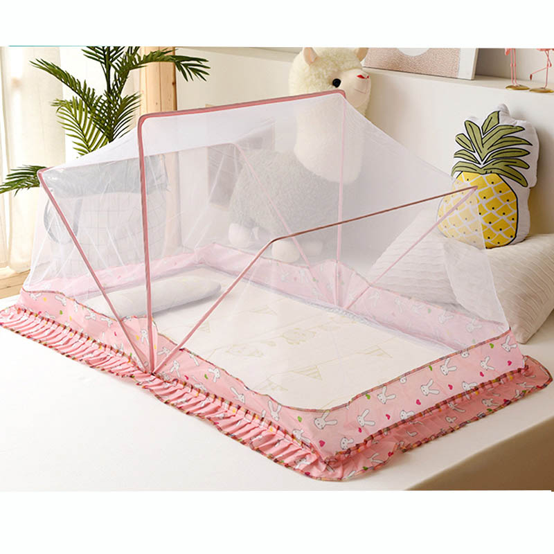 Kalameng Portable Folding Baby Mosquito Nets Rabbit Pattern Infant Bed Breathable Mosquito net ...