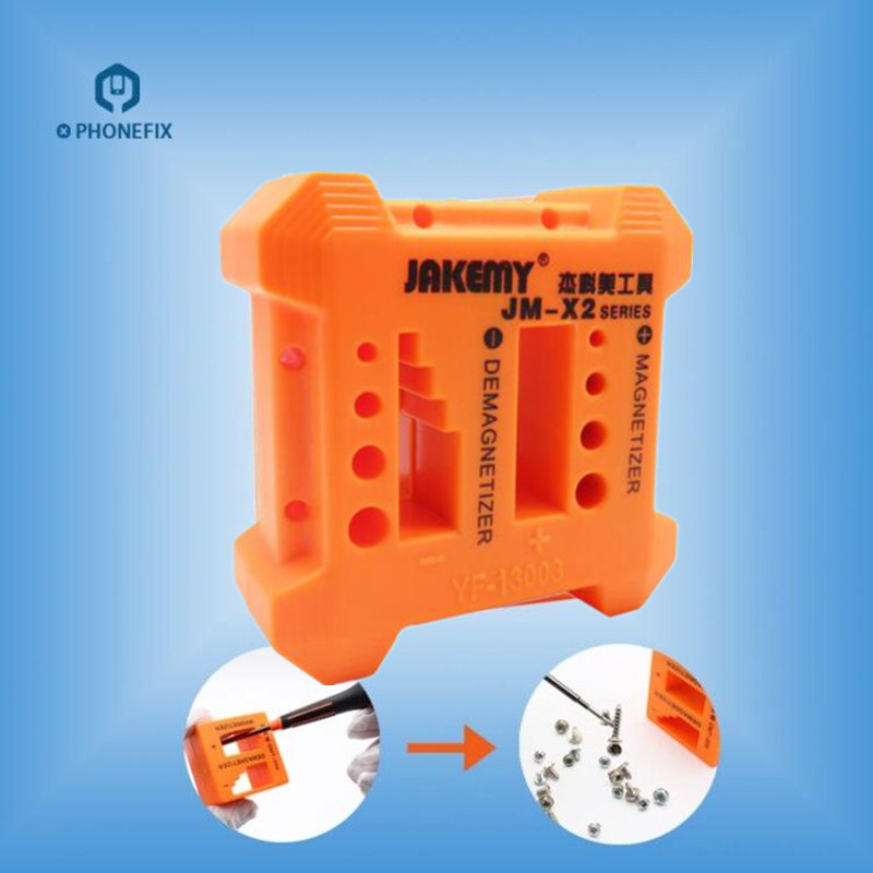 PHONEFIX High Quality JM-X2 Magnetizer Demagnetizer Tool Orange Screwdriver Magnetic Pick Up Tool For Mobile Phone Repair Tools