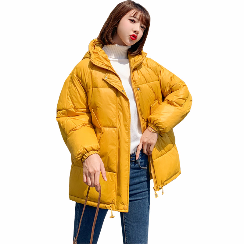 Winter Jacket Women 2019 Womens Parkas Thicken Outerwear Solid Hooded Coats Short Female Slim Cotton Padded Basic Tops
