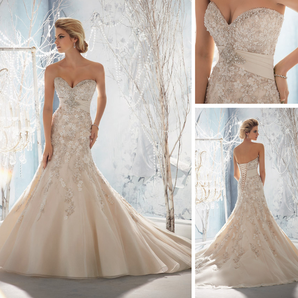 champagne colored wedding dresses Aliexpress com Buy Alibaba Real Champagne Colored Mermaid Wedding Dresses China WE04 from Reliable china 3g mobile phones suppliers on Ouscar Wedding