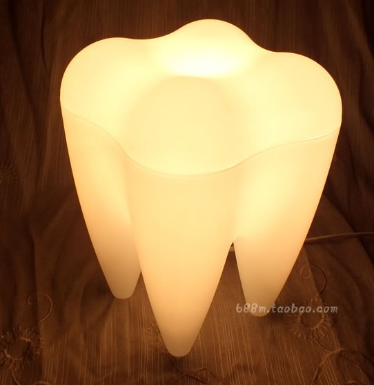 Etonnant Novelty Art Deco Tooth Lamp,unique Table Lamp,desk Lamp, Night Lights ,home  Decor/Christmas Decoration