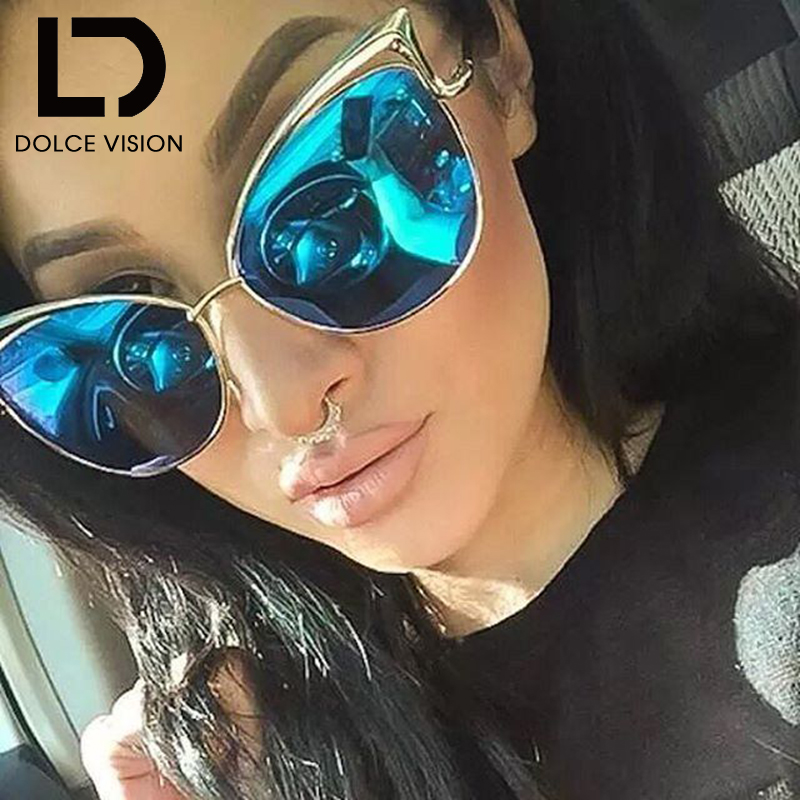 Кошачий глаз женские 2018 очки зеркальное покрытие Для женщин солнцезащитные очки дамы модные аксессуары Shades Sexy Sunglasse Высокое качество Óculos ...