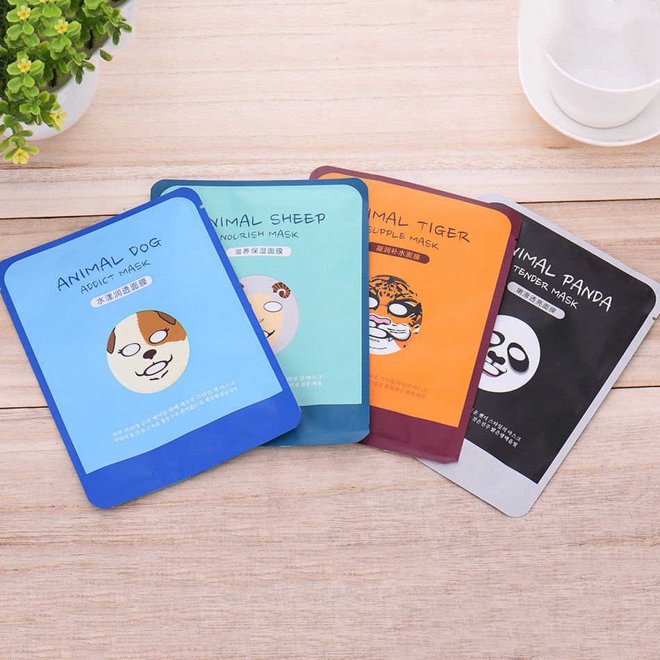 Bioaqua Skin Care Sheep/Panda/Dog/Tiger Four Types Optional Facial Mask Moisturizing Oil Control Cute Animal Face Mask maquiagem