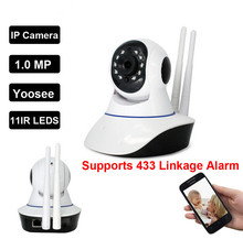 Wireless WiFi Security 720P Camera System support Wifi 433 Mhz Sensors & Alarms Detector Sensor/TF card