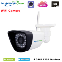 Wireless IP cam 720P HD P2P ONVIF 802.11b/g/n wifi network Wired IP Camera IR Outdoor Waterproof Camera IP ABS Plastic