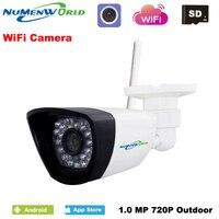 Wireless IP cam 720P HD P2P ONVIF 802.11b/g/n wifi network Wired IP Camera IR Outdoor Waterproof Camera IP ABS Plastic