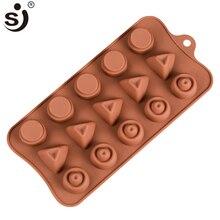 SJ антипригарные круглые силиконовые формы для украшения шоколада формы для выпечки инструменты для выпечки