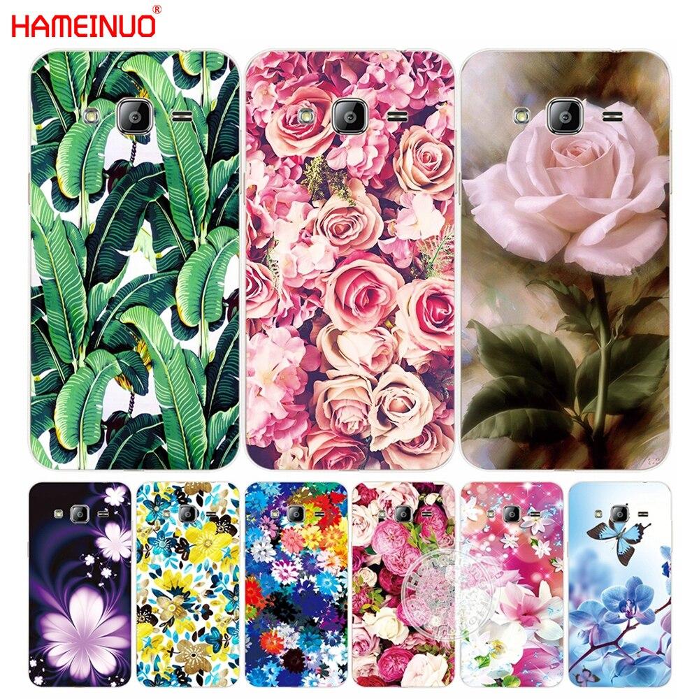 Hameinuo розы Пион банановые листья крышка телефона чехол для Samsung <font><b>Galaxy</b></font> J1 J2 <font><b>J3</b></font> J5 J7 мини Ace 2016 2015