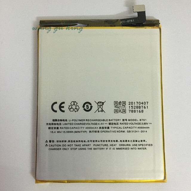 100% new BT61 Battery 4000mAh for MEIZU M3 Note Pro Prime Battery In stock With Tracking number