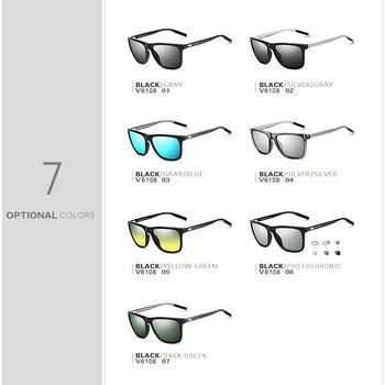 VEITHDIA Brand Unisex Retro Aluminum+TR90 Sunglasses Polarized Lens Vintage Eyewear Accessories Sun Glasses For Men/Women 6108 6