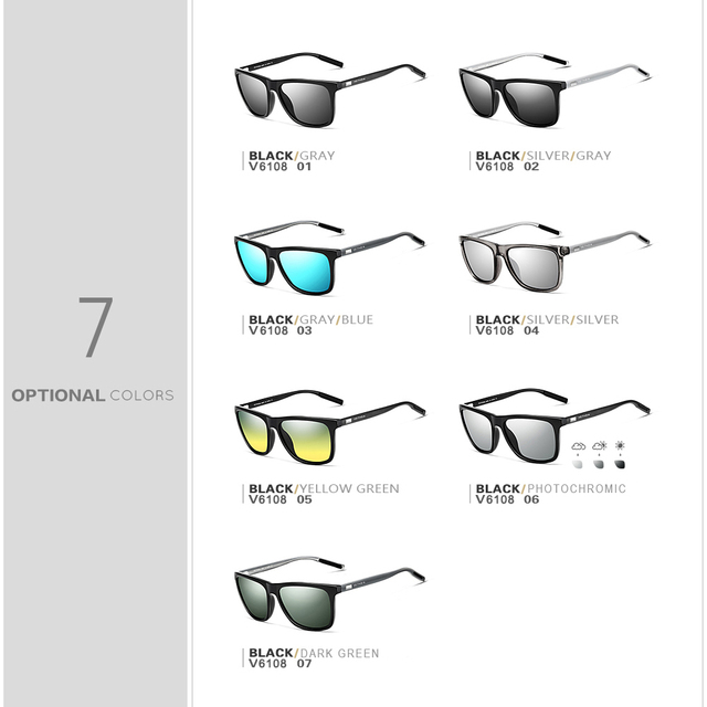 Women's Casual Square Sunglasses with Polarized Lense – 21JS