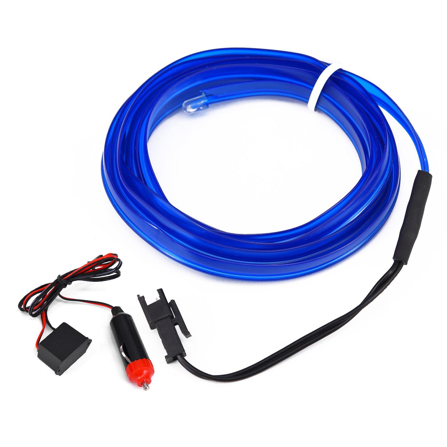 1set 200cm 12V Truck LED Wire Blue Cold Light Lamp Neon Lamp Atmosphere Light 1*Power Contactor And Driver image
