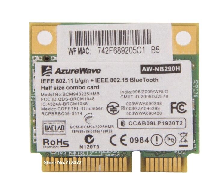 SSEA New Wifi 3.0 Bluetooth Broadcom BCM43225HMB half Mini PCI-E Wireless Card 300Mbps for ACER 4750G 5750G Free shipping