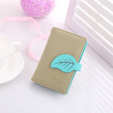 New arrvial Fashion Maple Leaf card holder brand Matter Pu leather ID holder girl credid card wallet