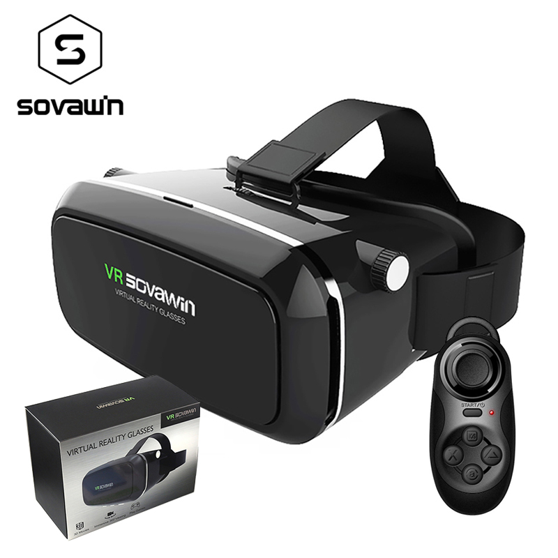 Sovawin VR Glasses 3D Glasses Virtual Reality VR Cardboard Virtual Reality VR Glasses Headset Box for 4-6' Mobile Smart Phone vr shinecon google cardboard pro version 3d vr virtual reality 3d glasses smart vr headset