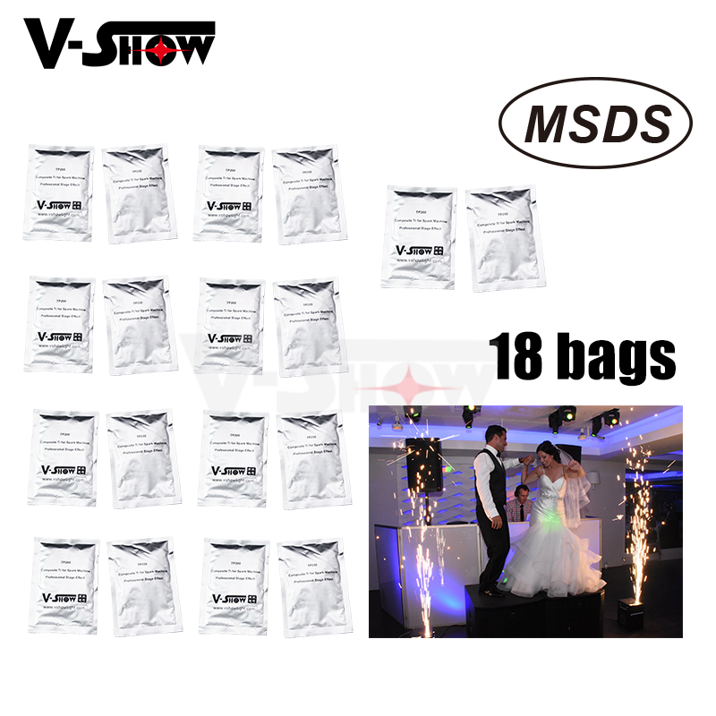 18 Bags Ti Powder 200g bag For Cold Spark Firework Machine Wedding Sparkular Machine MSDS Powder
