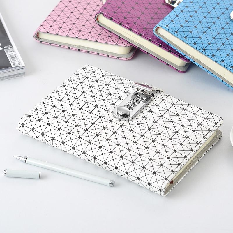 NOUVEAU ordinateur portable En Cuir journal avec serrure mot de passe code papeterie produits fournitures creative Tendances 100 feuilles papier cadeau