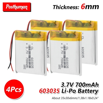 3.7V 700mAh li-ion Lipo cells Lithium Li-Po Polymer Battery 603035 Li-ion Battery For Speaker Headphone GPS MP3 MP4 Toy