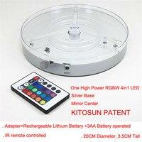 웨딩 크리스마스 장식 8 인치 rgbw 4in1 multicolors 센터 피스 led 기본 빛 24 키 remte 컨트롤러