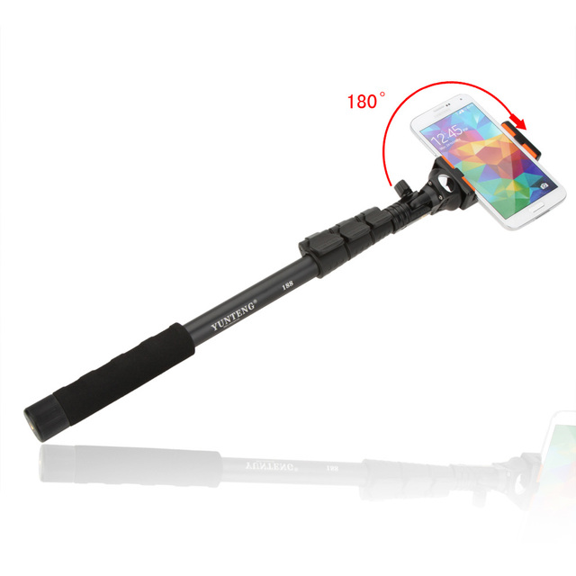 YUNTENG Portable Extendable Selfie Stick Tripod Monopod Adapter for iPhone X Samsung Huawei Smartphone Sony Gopro DSLR Camera