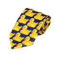 Small yellow duck rubber tie Men's Fashion novelty print tie 8CM tide of high-quality men's formal wear tie Fun