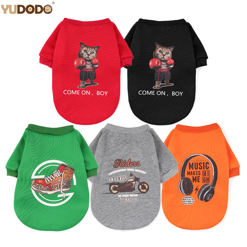 Fashion Pattern Dog Hoodies For Chihuahua Teddy Autumn Winter Warm Soft Cat Puppy Small Pet Clothing Dogs Clothes