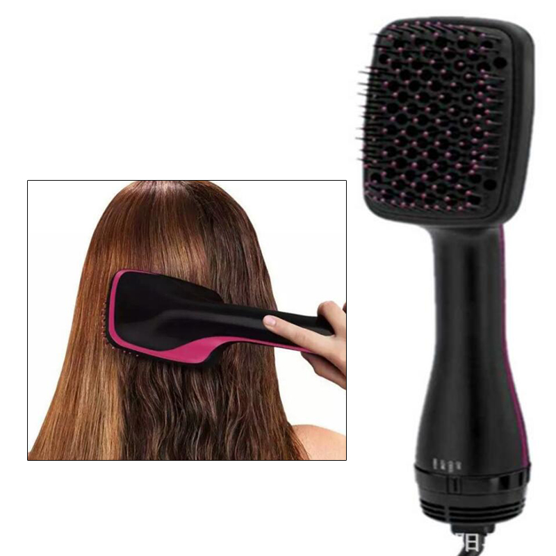 Hot Air Comb Hot Air Blower Negative Ionic Dry Hair Comb Salon Beauty Brush 2 in 1 1000W 2 in 1 rainbow comb volume hair brush hairdressing mirror tool travel household necessity