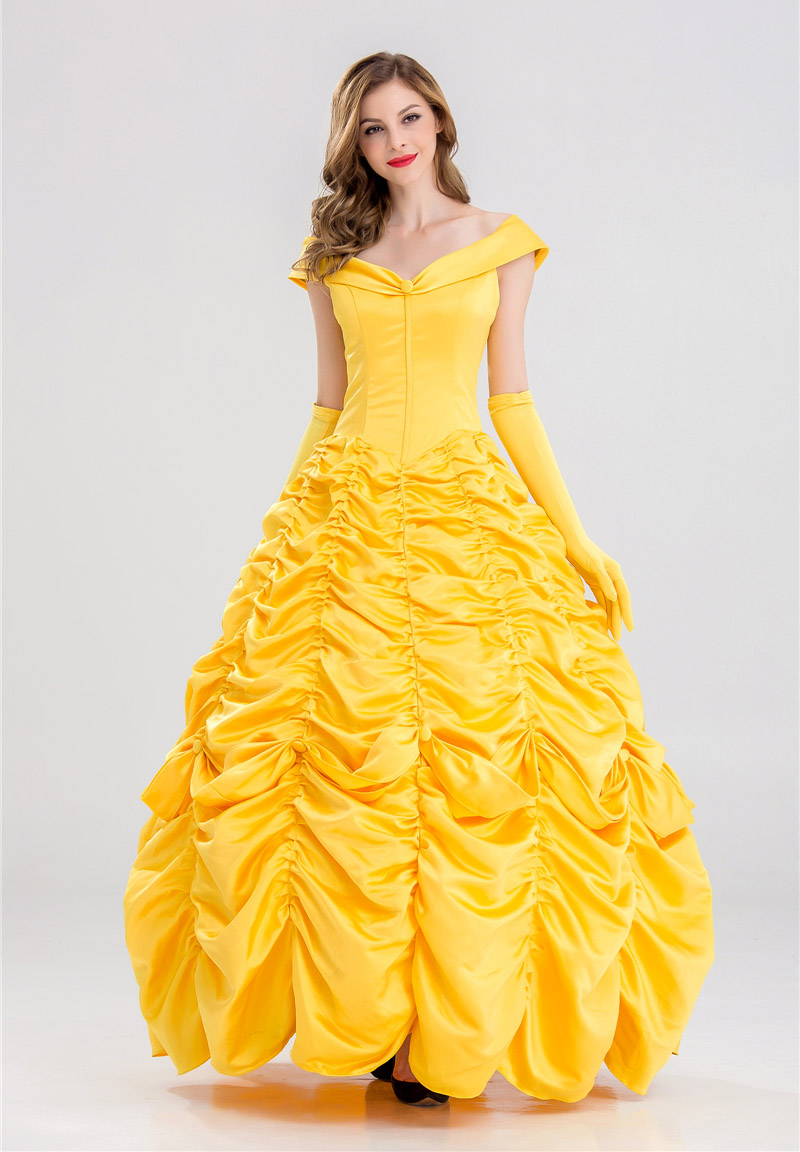 Xxl Princess Belle Costume Adult Women Beauty And Beast Halloween Cosplay